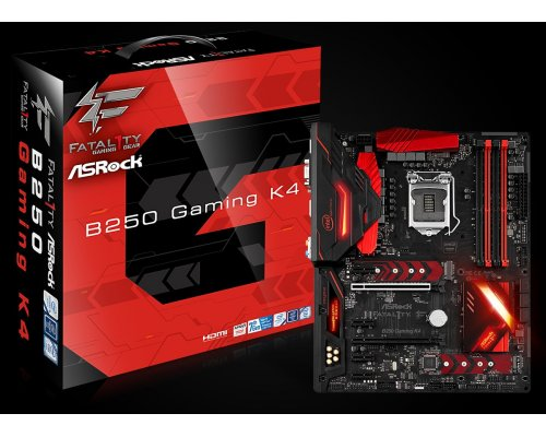 PLACA BASE s1151 ASROCK FATAL1TY B250 GAMING K4