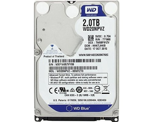 "HD 2.5"" 2TB WESTERN DIGITAL BLUE WD20NPVZ 15mm"