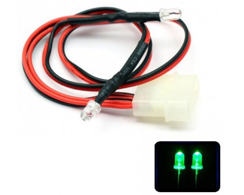 LED VERDE DOBLE 5mm ALTO BRILLO