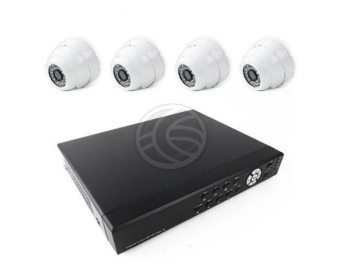 KIT DE VIDEO VIGILANCIA DVR CON 4 CÁMARAS DOMO COMPATIBLE HD