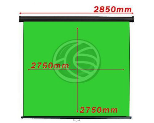 PANTALLA CROMAKEY VERDE 1:1 PARED NEGRA 2750X2750MM
