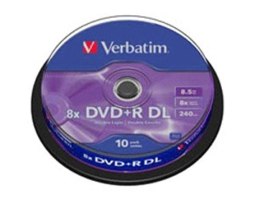 DVD+R DL VERBATIM 8X 8.5GB TARRINA 10u