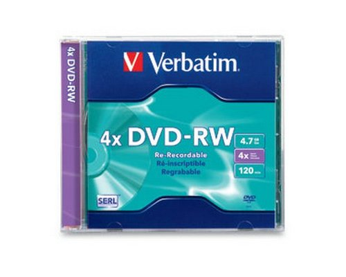 DVD-RW VERBATIM 4.7GB 4X RE-RECORDABLE