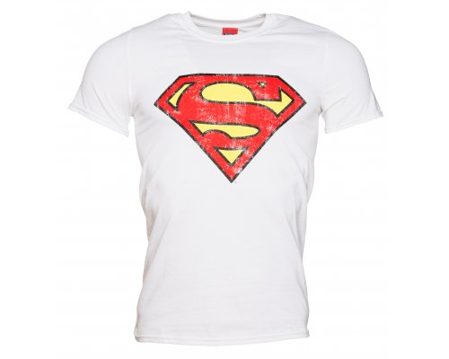 CAMISETA SUPERMAN BLANCA LOGO [L]