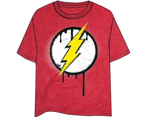 CAMISETA FLASH LOGO ROJA [M]