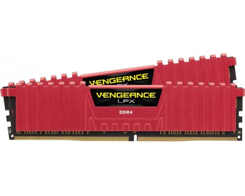 MEMORIA DDR4 2800 CORSAIR VENGEANCE LPX RED 2x4GB