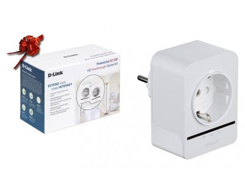 KIT POWERLINE D-LINK DHP-P509AV 500MBPS CON CONECTOR SCHUKO