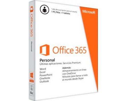 SOFTWARE MICROSOFT OFFICE 365 PERSONAL (1 EQUIPO/1 AÑO)