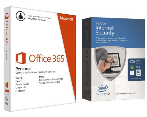 MICROSOFT OFFICE 365 PERSONAL + MCAFEE INTERNET SECURITY