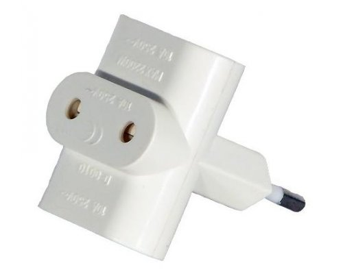 ADAPTADOR DIVISOR TRIPLE EUROPEO BLANCO
