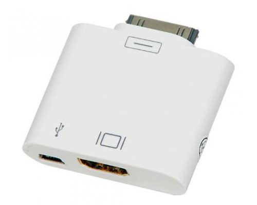 ADAPTADOR HDMI PARA IPOD/IPHONE4/IPAD. BLANCO