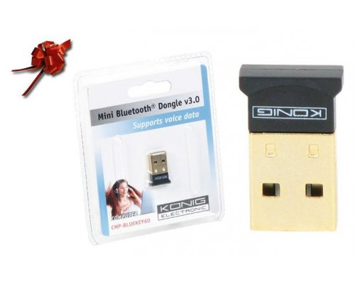 MINI ADAPTADOR BLUETOOTH 3.0 USB 2.0 20M