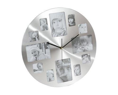 PLATINET PZMC MEMORY RELOJ DE PARED PHOTO ALUMINIO