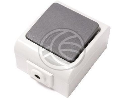 BASE DE SUPERFICIE ESTANCA IP44 10A 250V CON UN PULSADOR