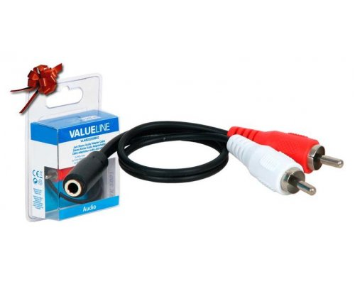 CABLE MULTIMEDIA AUDIO STEREO 1 JACK 3.5MM HEMBRA A 2 RCA MA