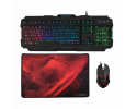KIT MARS GAMING MCP118 TECLADO+RATÓN+ALFOMBRILLA