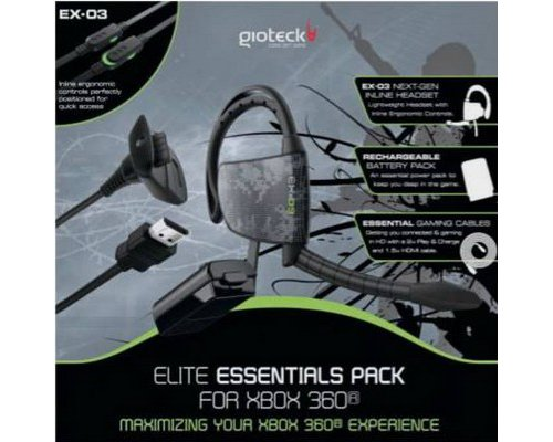 AURICULAR GIOTECK EX-03 PACK ELITE BATERIA CABLE USB XBOX 36