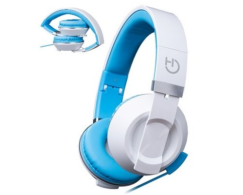 AURICULAR+MIC HIDITEC COOL KIDS BLANCO PLEGABLES