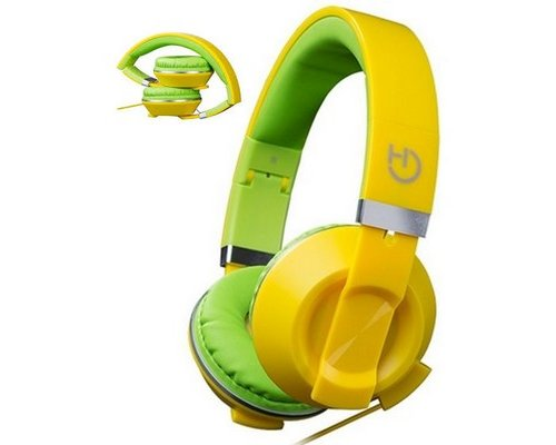 AURICULAR+MIC HIDITEC COOL KIDS YELLOW PLEGABLES