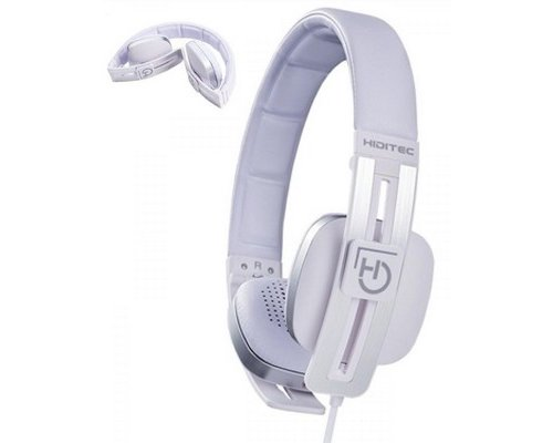 AURICULAR+MIC HIDITEC WAVE WHITE PLEGABLE