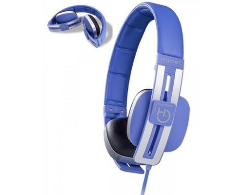 AURICULAR+MIC HIDITEC WAVE BLUE PLEGABLE