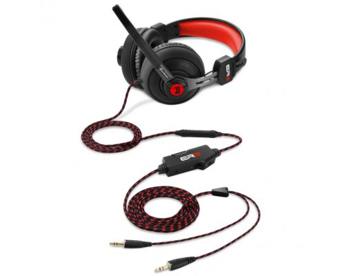 AURICULARES+MICRO SHARKOON GAMING RUSH ER2 ROJO PC/PS4