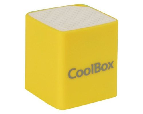 ALTAVOZ COOLBOX CUBE MINI BLUETOOTH AMARILLO