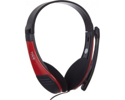 AURICULARES + MICRO HAVIT HV-H2105D RED