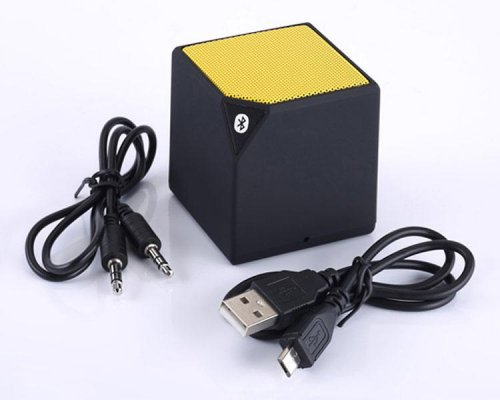 ALTAVOZ BLUETOOTH CUBE AMARILLO COOLBOX