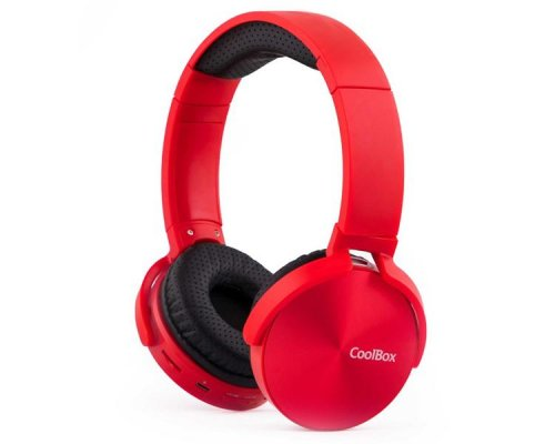 AURICULARES BLUETOOTH COOLMETAL RED COOLBOX