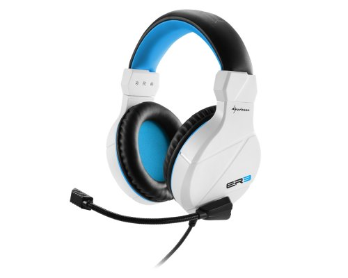 AURICULARES+MICRO SHARKOON GAMING RUSH ER3 BLANCO miniJACK