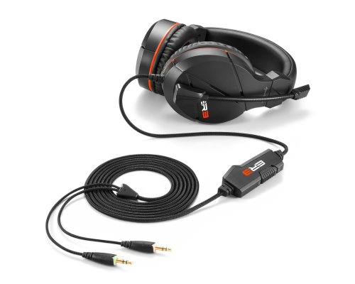AURICULARES+MICRO SHARKOON GAMING RUSH ER3 NEGRO miniJACK