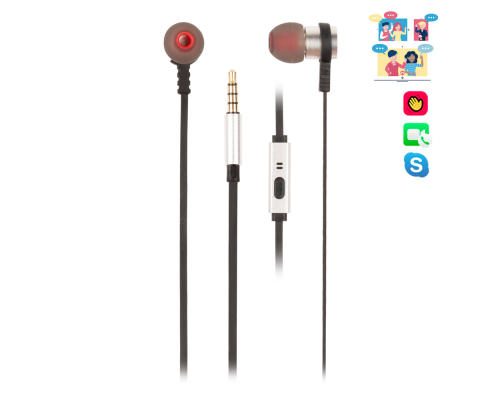 AURICULARES + MICRO IN-EAR NGS CROSS RALLY SILVER