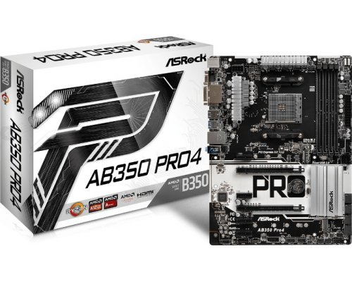 PLACA BASE AM4 ASROCK AB350 PRO4 ATX
