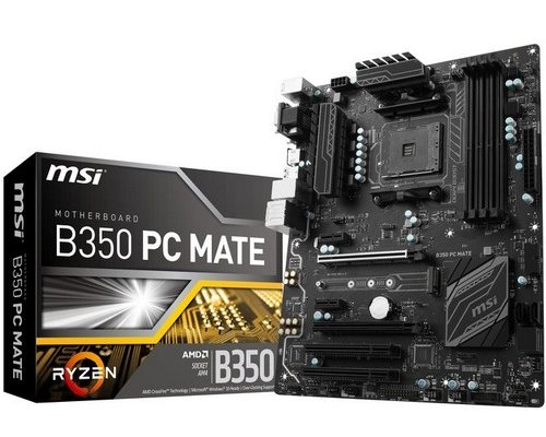 PLACA BASE AM4 MSI B350 PC MATE ATX