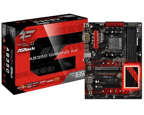 PLACA BASE AM4 ASROCK FATAL1TY AB350 GAMING K4