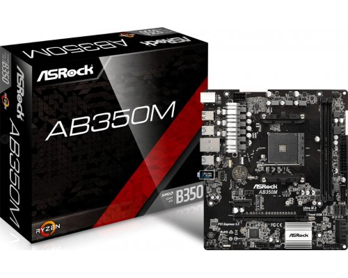 PLACA BASE AM4 ASROCK AB350M mATX