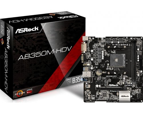 PLACA BASE AM4 ASROCK AB350M-HDV mATX