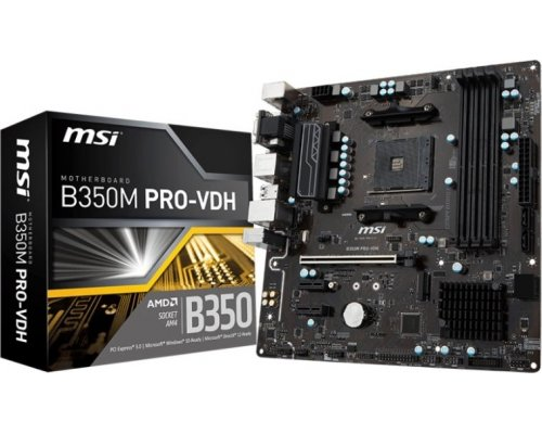 PLACA BASE AM4 MSI B350M PRO-VDH mATX