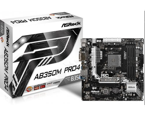 PLACA BASE AM4 ASROCK AB350M PRO4 mATX
