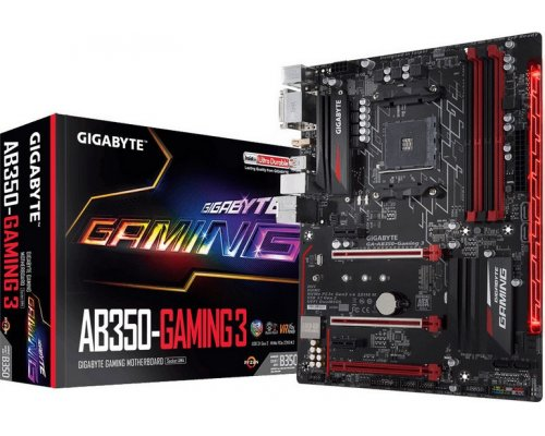 PLACA BASE AM4 GIGABYTE AB350 GAMING 3