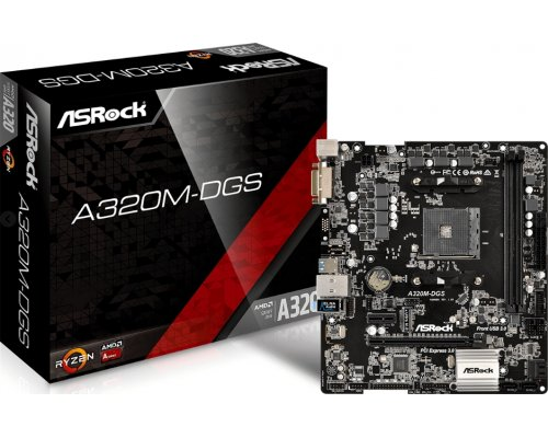 PLACA BASE AM4 ASROCK A320M-DGS mATX
