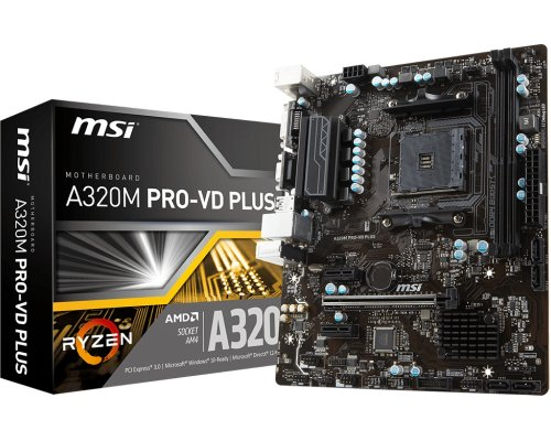 PLACA BASE AM4 MSI A320M PRO-VD PLUS mATX