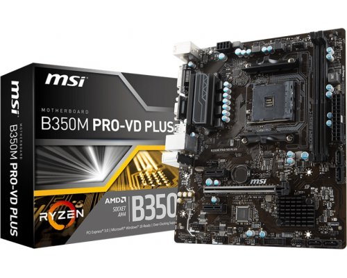 PLACA BASE AM4 MSI B350M PRO-VD PLUS mATX