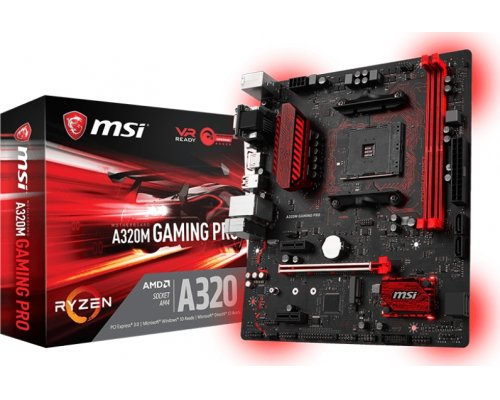 PLACA BASE AM4 MSI A320M GAMING PRO mATX