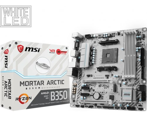 PLACA BASE AM4 MSI B350M MORTAR ARCTIC mATX