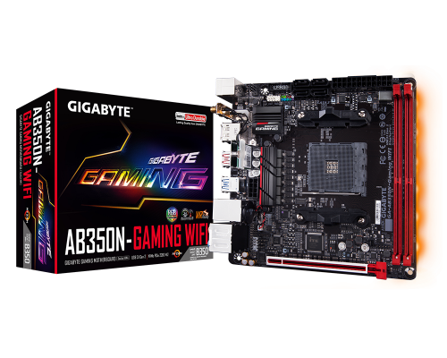 PLACA BASE AM4 GIGABYTE AB350N-GAMING WIFI mITX