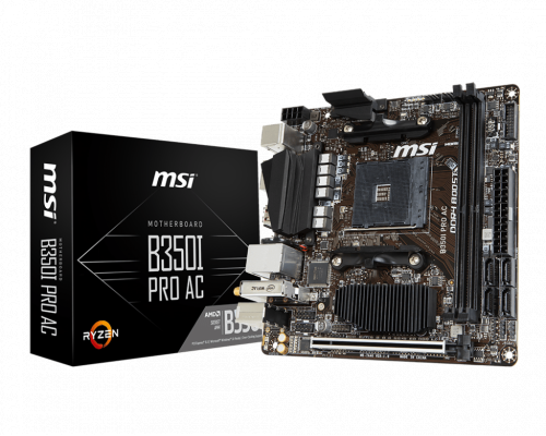 PLACA BASE AM4 MSI B350I PRO AC mITX