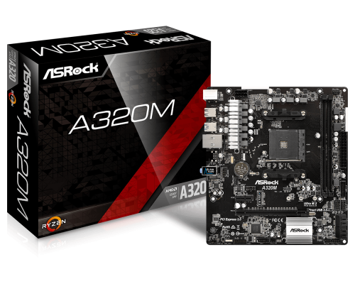 PLACA BASE AM4 ASROCK A320M mATX