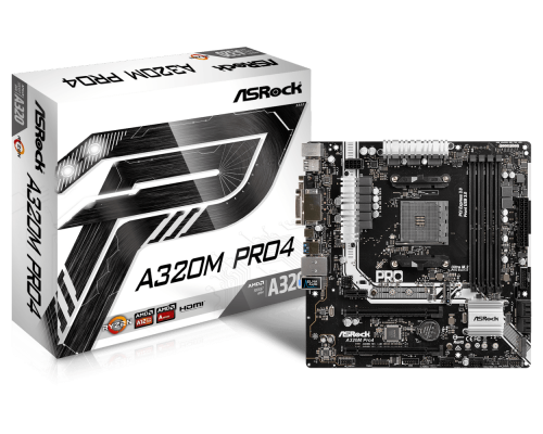 PLACA BASE AM4 ASROCK A320M-PRO4 mATX